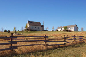 Property fence line at Circle H Ranch